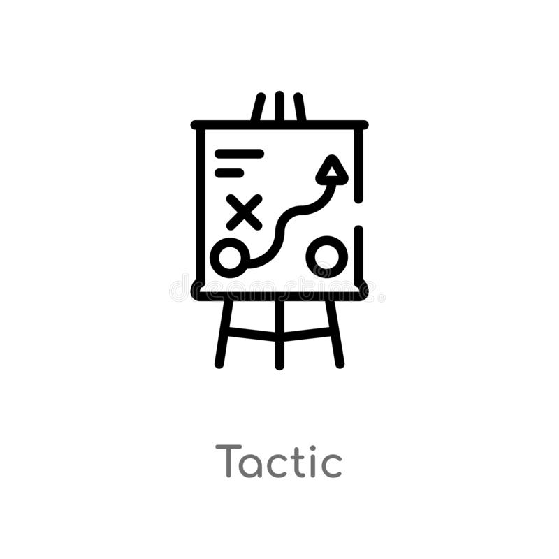 outline tactic vector icon. isolated black simple line element illustration from business concept. editable vector stroke tactic vector illustration