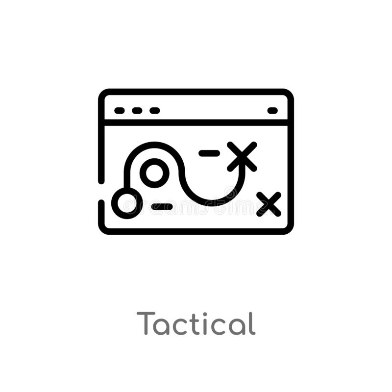 outline tactical vector icon. isolated black simple line element illustration from seo & web concept. editable vector stroke vector illustration