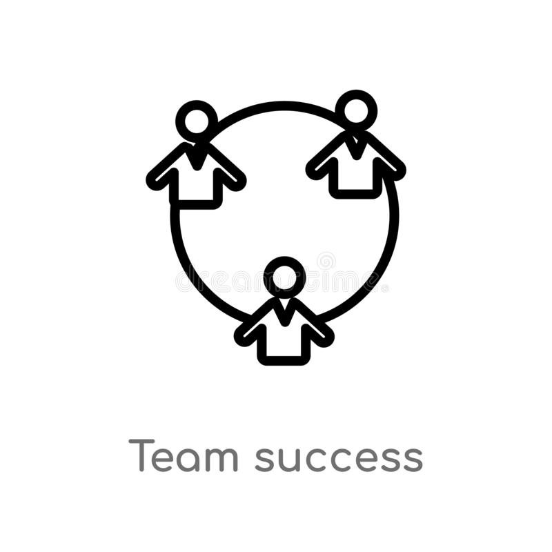 outline team success vector icon. isolated black simple line element illustration from people concept. editable vector stroke team royalty free illustration