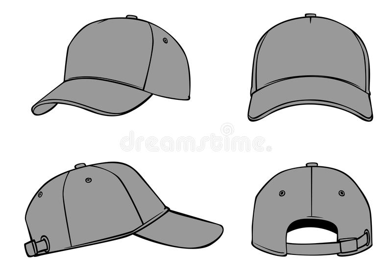 Outline template cap stock vector. Illustration of view - 78026922