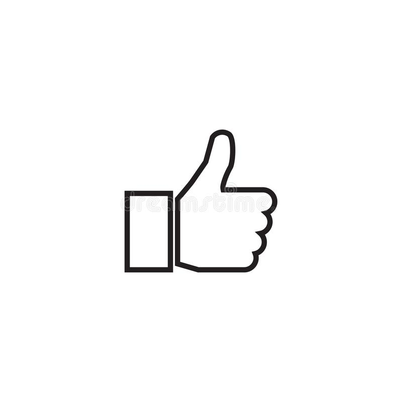 Outline Thumb Up Icon Isolated On Grey Background Line Like Symbol