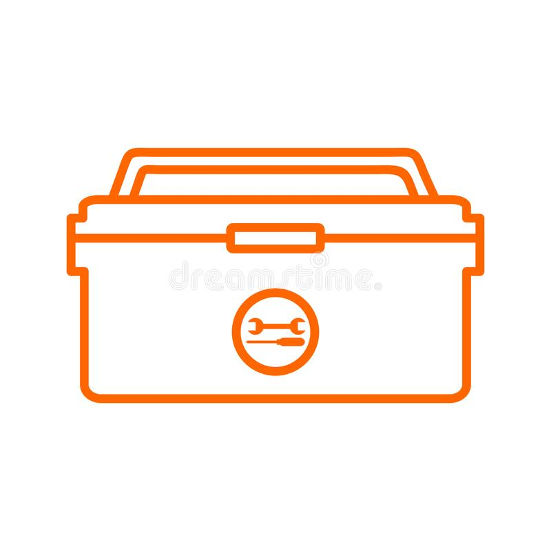 Outline Tool Box Storage Drawing Vector Illustration Graphic royalty free illustration