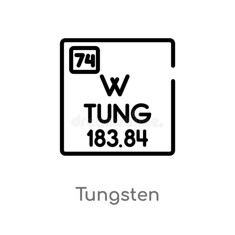 outline tungsten vector icon. isolated black simple line element illustration from user interface concept. editable vector stroke stock illustration