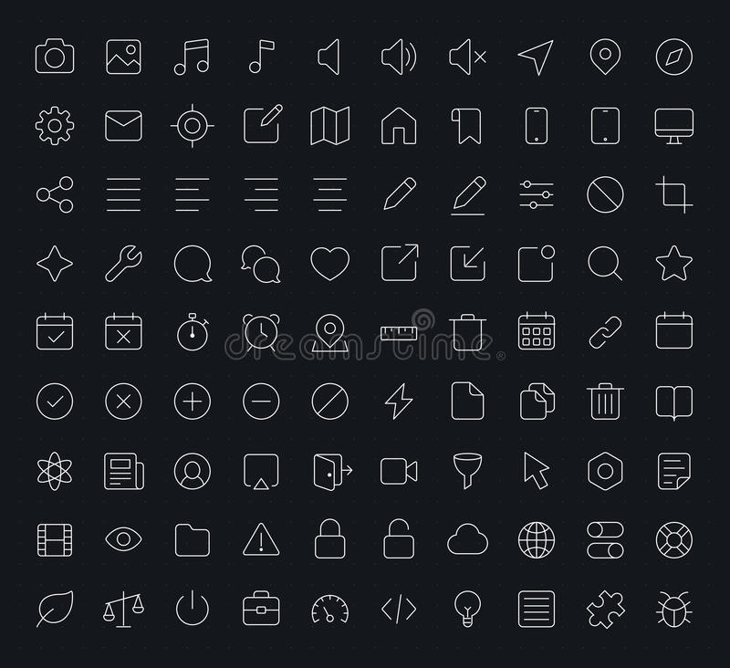 Free Outline Vector Apps Shop Icon Stock Photography - 52138832