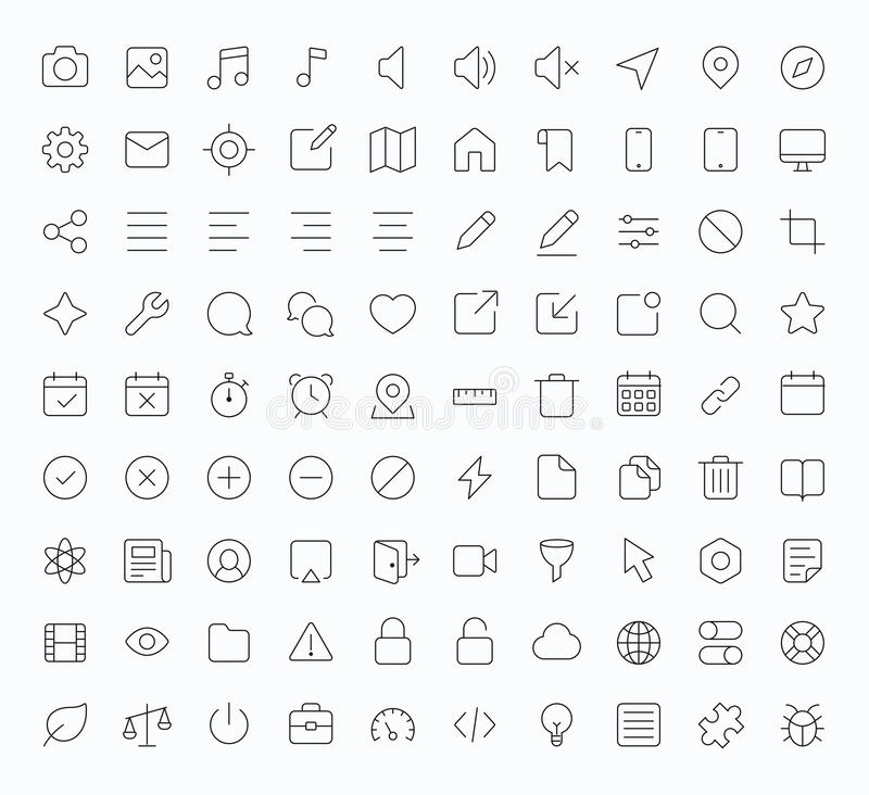 Free Outline Vector Apps Shop Icon Royalty Free Stock Image - 52139386