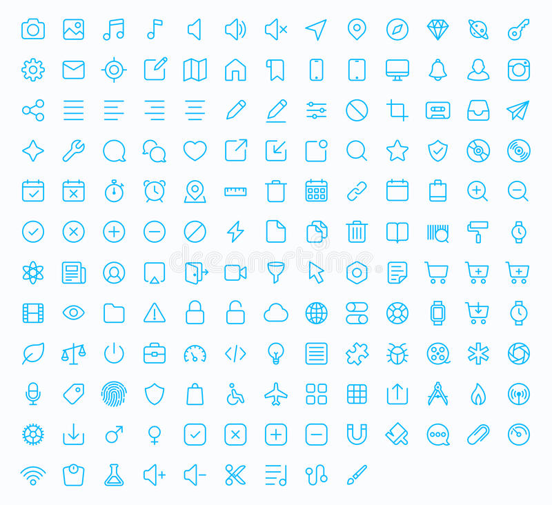 Free Outline Vector Icons For Web And Mobile Stock Photos - 60757353