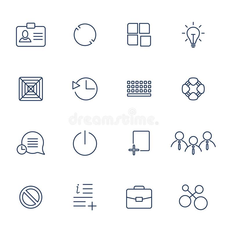 Outline vector icons for web and mobile. vector illustration