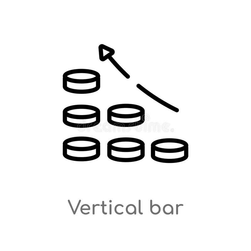 Outline vertical bar vector icon. isolated black simple line element illustration from user interface concept. editable vector. Stroke vertical bar icon on stock illustration