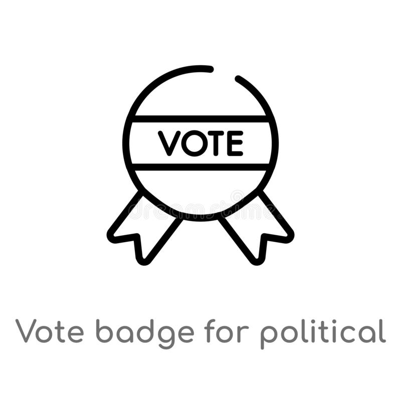 Vote Badge Blank Isolated Patriotic Election Stock Illustration Illustration Of Symbol Isolated 18271638