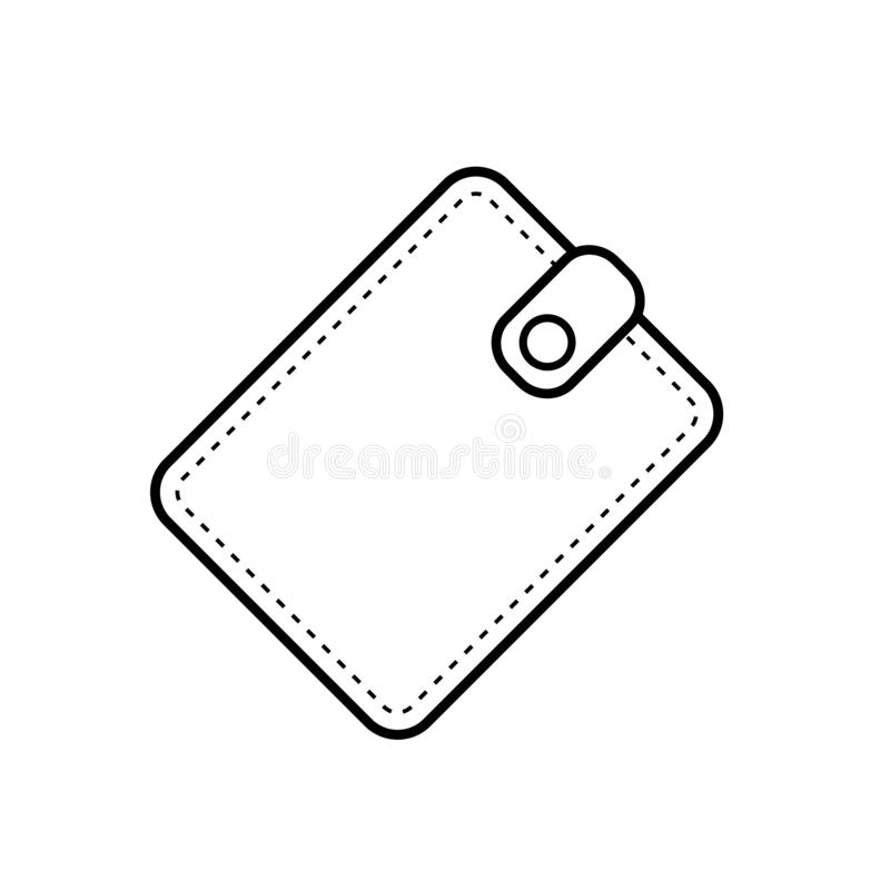 Outline wallet black color on white background. Wallet outline vector eps10. vector illustration