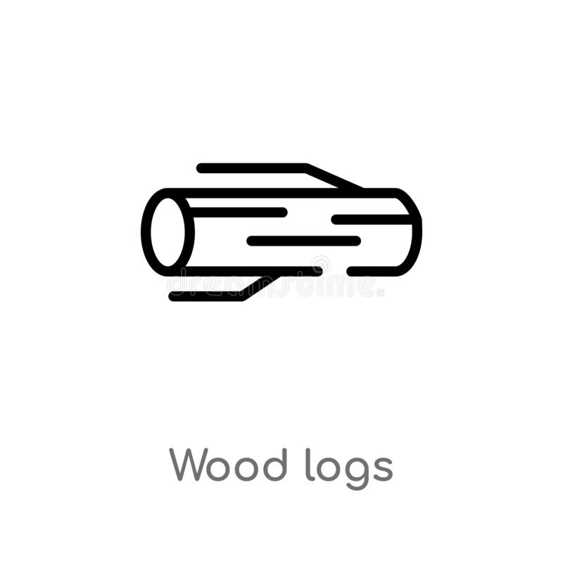 Pile Of Logs, Wood Vector Icon Stock Vector - Illustration