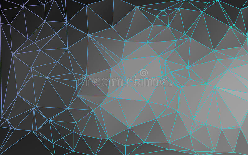Download Outlined Abstract Low Poly Vector Background Stock Vector - Illustration of light, monochrome: 74498387