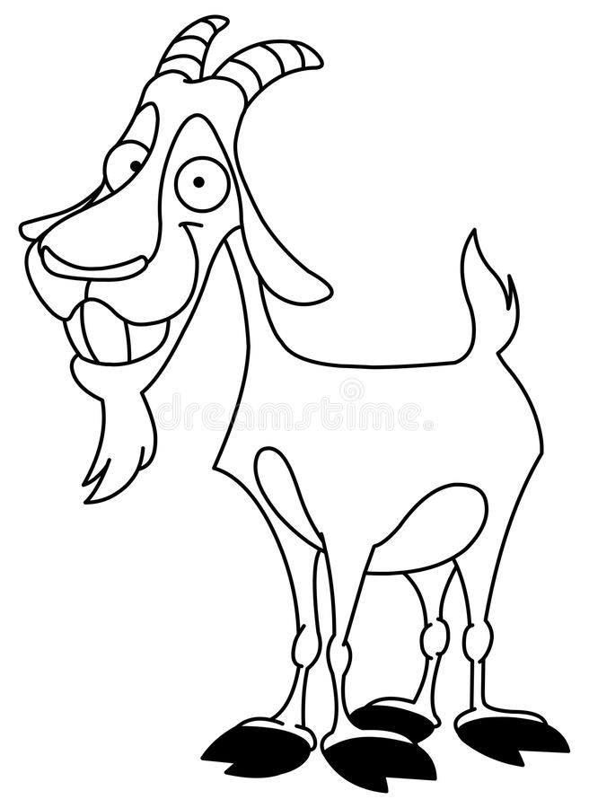 Download Outlined billy goat stock vector. Image of empty, goatee - 16346330