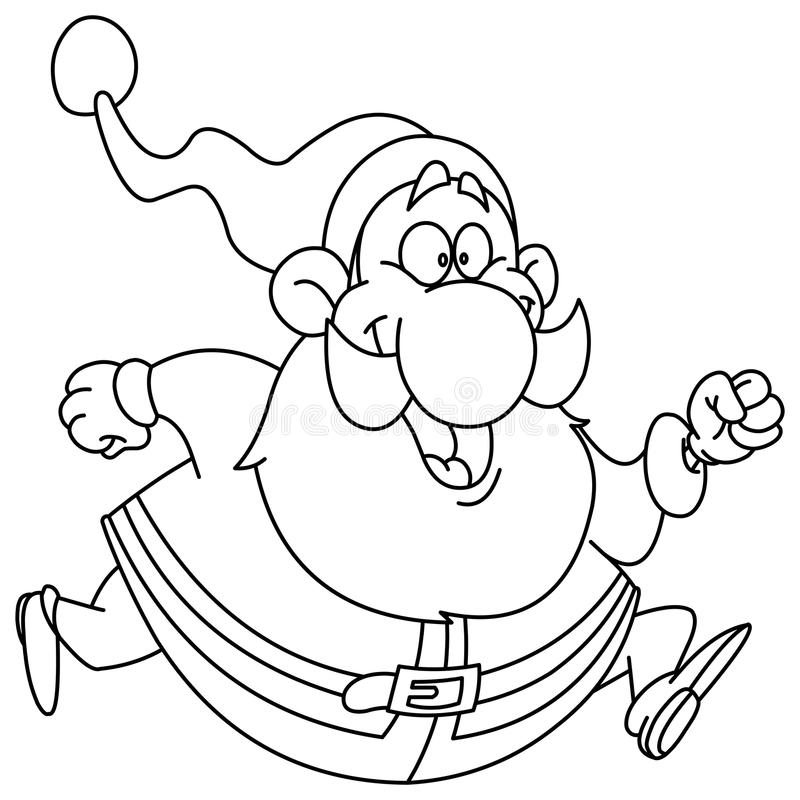 Outlined courant Santa illustration stock