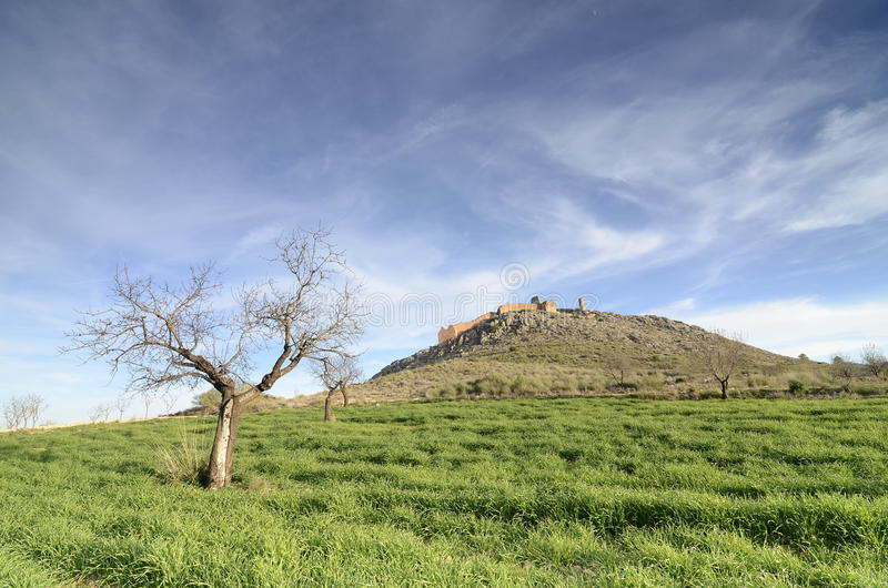 Download Outlined On A Hilltop Are The Ruins Of The Castle Of Xiquena Stock Photo - Image: 29005698