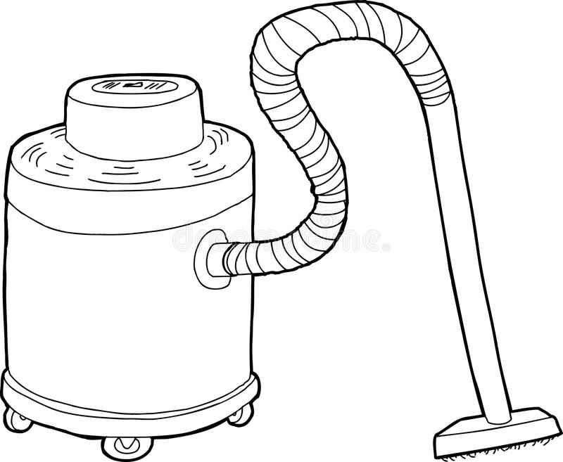 Outlined Large Vacuum stock illustration. Illustration of ... Vacuum Clipart Black And White
