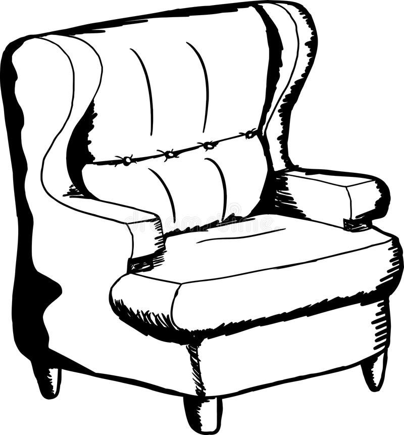cartoon sofa chair. Download Outlined Sofa Chair Stock Illustration. Illustration Of Outline - 57919747 Cartoon Dreamstime.com