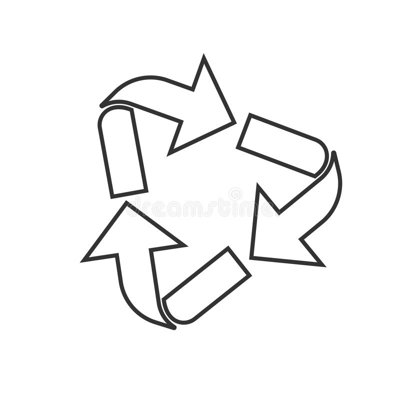 Outlined triangular arrows vector illustration
