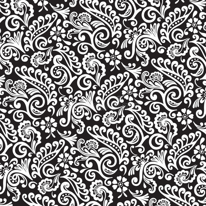 Outlined Victorian Pattern stock photography