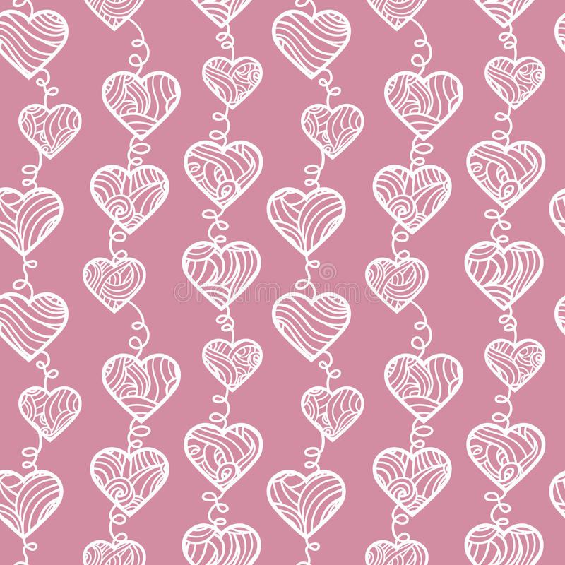 Download Outlines hearts pattern. stock vector. Image of cheerful - 40376293