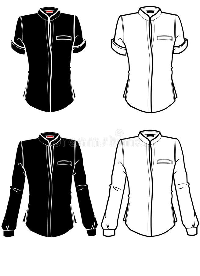 Download Outlines of shirts stock illustration. Illustration of illustration - 4593922