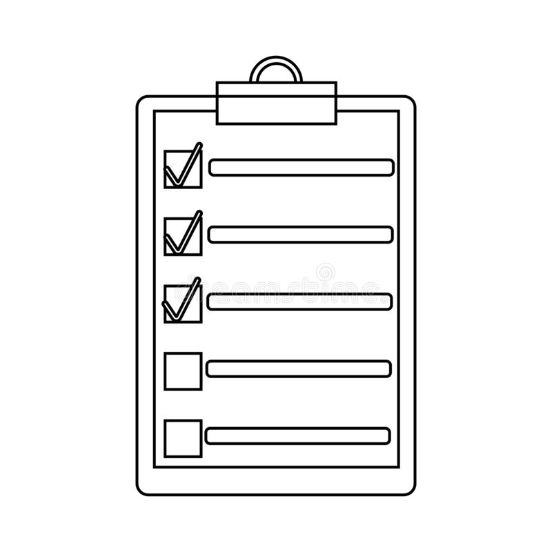 Outlint to do list or planning icon royalty free illustration