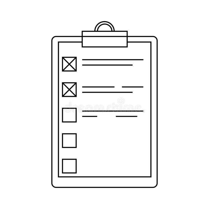 Outlint to do list or planning icon. Simple style stock illustration
