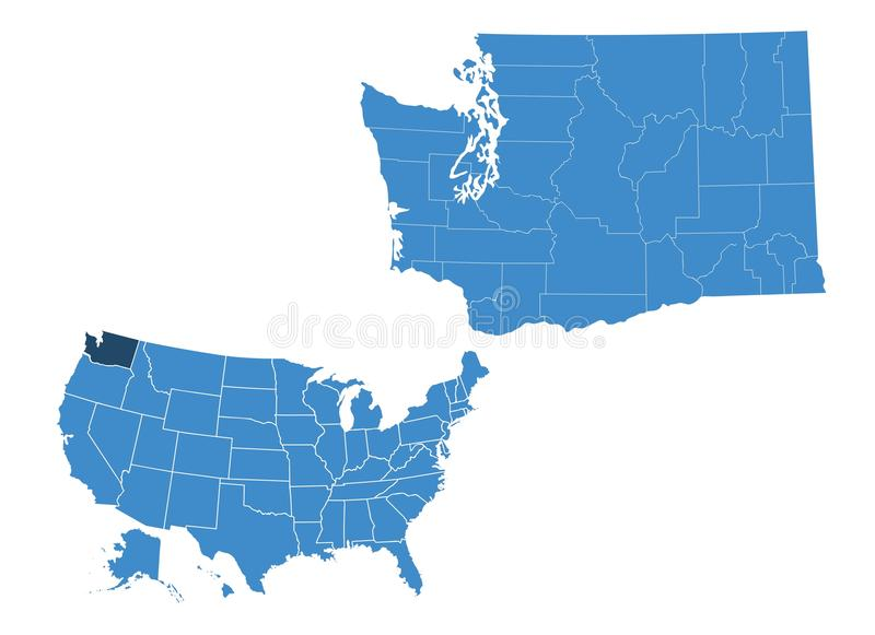 Outlne mapa Oregon stan ilustracja wektor