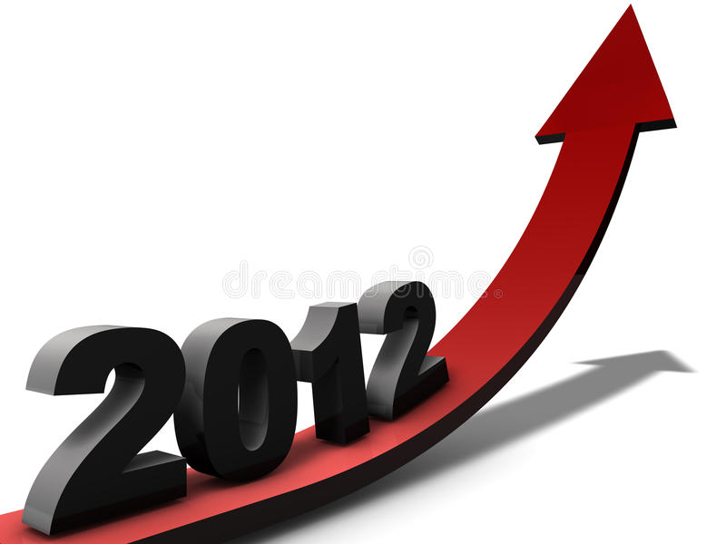 Outlook 2012. Outlook on business year 2012 stock illustration