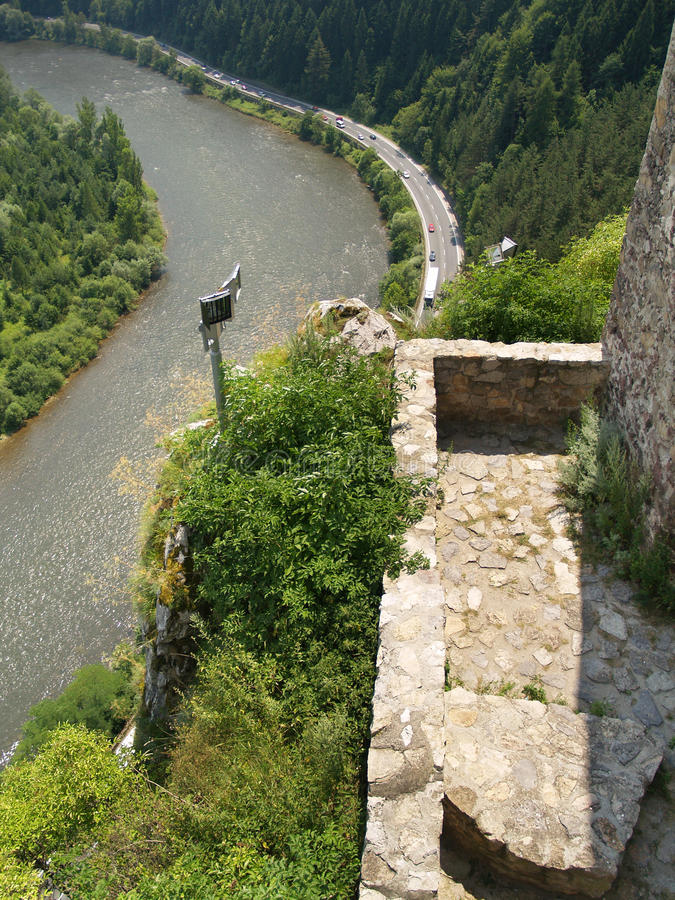 Outlook from The Castle of Strecno royalty free stock images