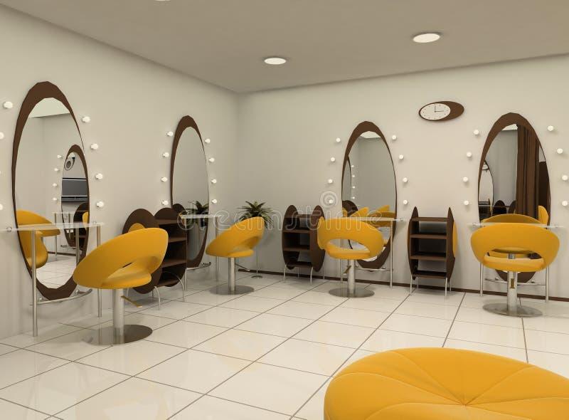 Outlook of luxury beauty salon stock illustration