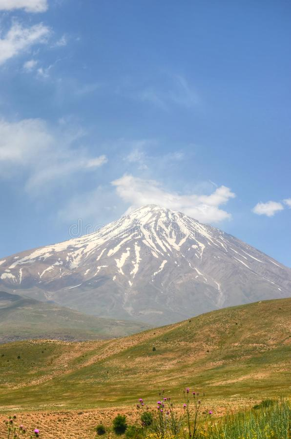 Free Outlook Of Mount Damavand From South Face , Alborz Mountains Iran Royalty Free Stock Image - 160632616