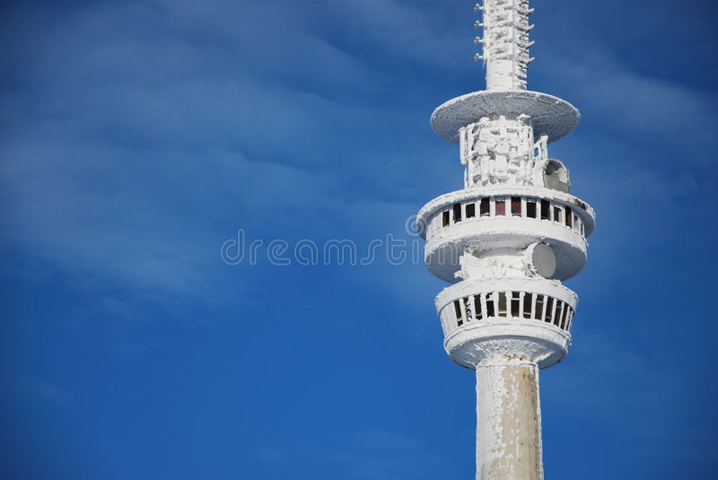 Outlook tower on Praded Mountain. Outlook tower in Jeseniky mountains on Mount Praded stock photos