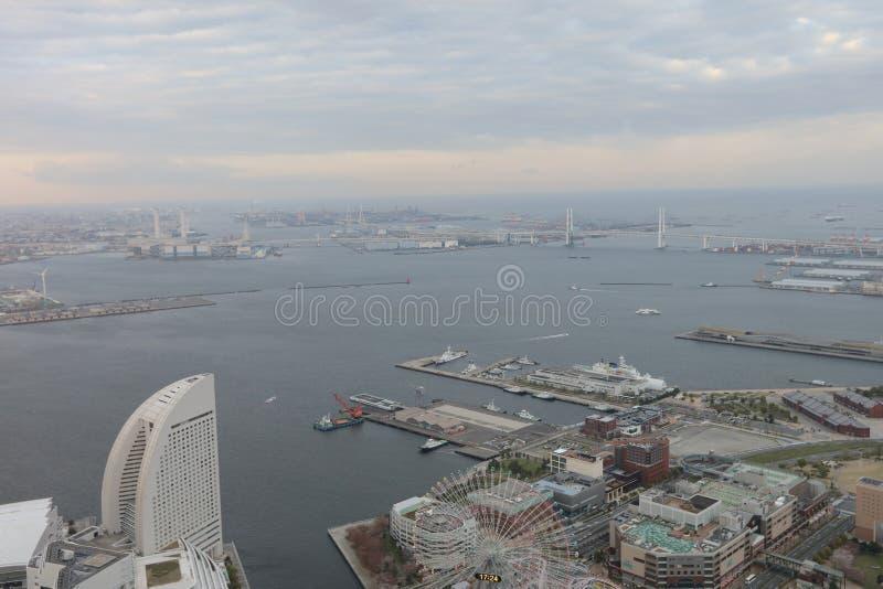 Outlook from Yokohama Landmark Tower. The Outlook from Yokohama Landmark Tower royalty free stock images