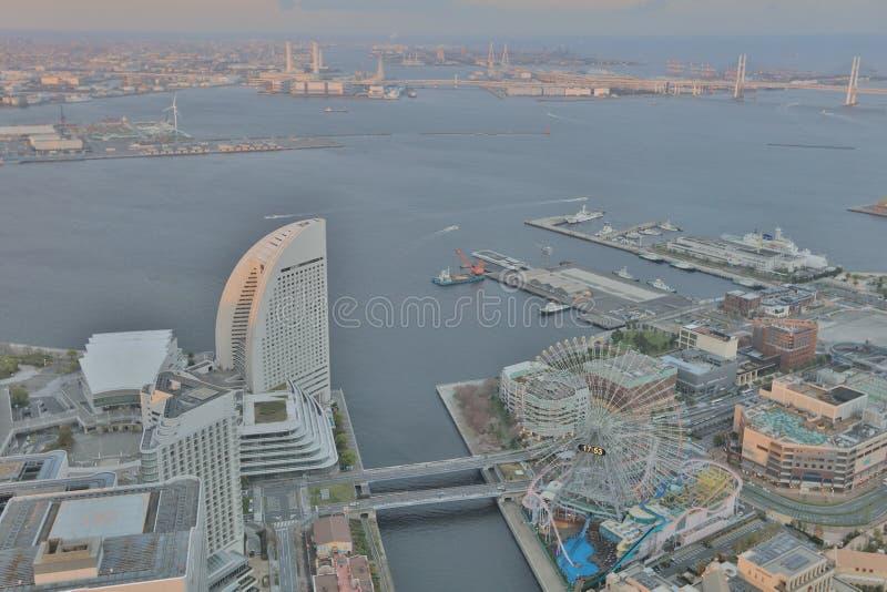 Outlook from Yokohama Landmark Tower. The Outlook from Yokohama Landmark Tower royalty free stock photos