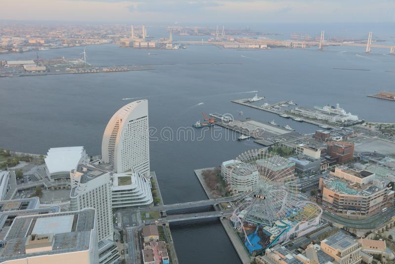 Outlook from Yokohama Landmark Tower. The Outlook from Yokohama Landmark Tower stock photography
