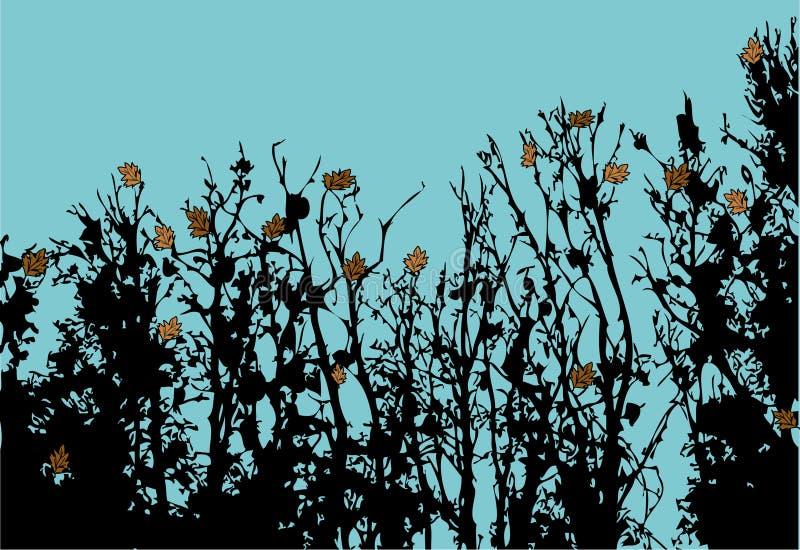 Outono atrasado ilustração stock