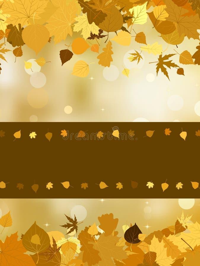 Outono com as folhas coloridas no efeito do bokeh. EPS 8 ilustração royalty free