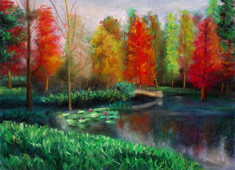 Download Outono com cor ilustração stock. Ilustração de país, artwork - 12802911