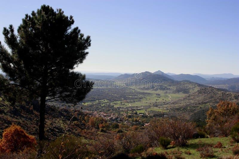 outono da serra de Madri, rocha grande perto 'de San Lorenzo de El Escorial ', do Monte 'Abantos ', Zarzalejo, cogumelo do Madri imagem de stock