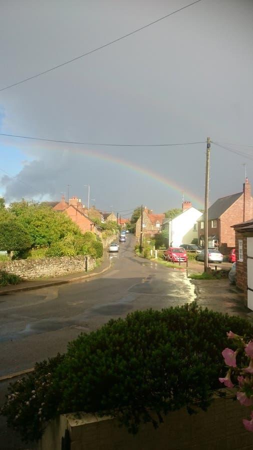 outono do arco-íris imagens de stock