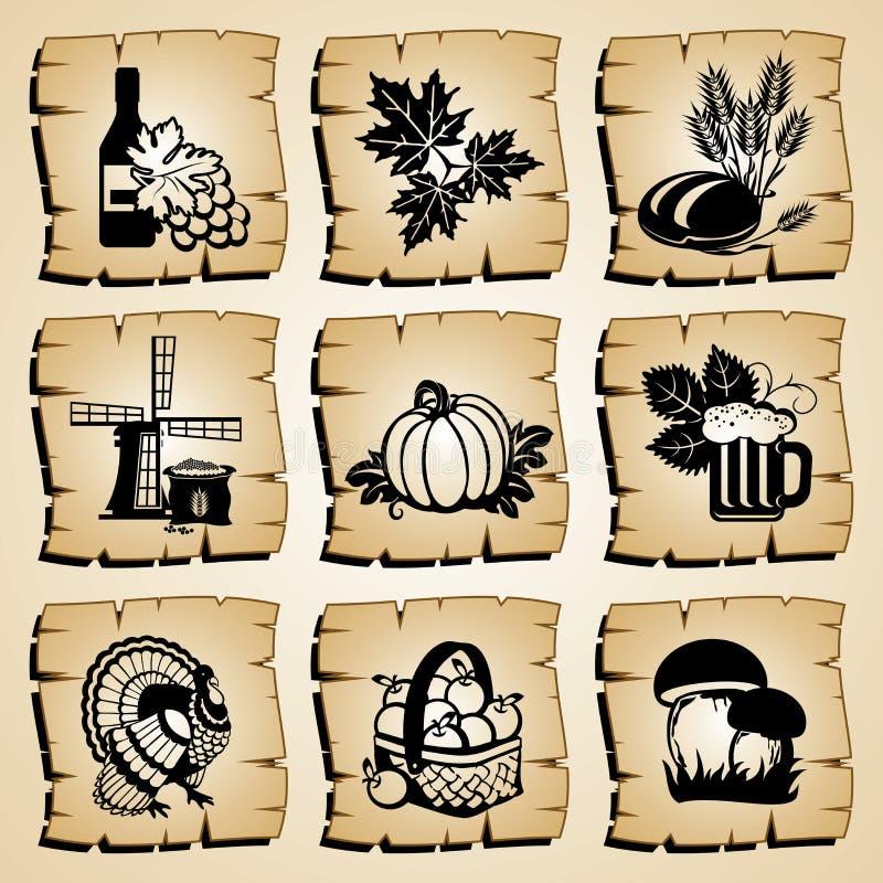 Outono dos ícones ilustração stock