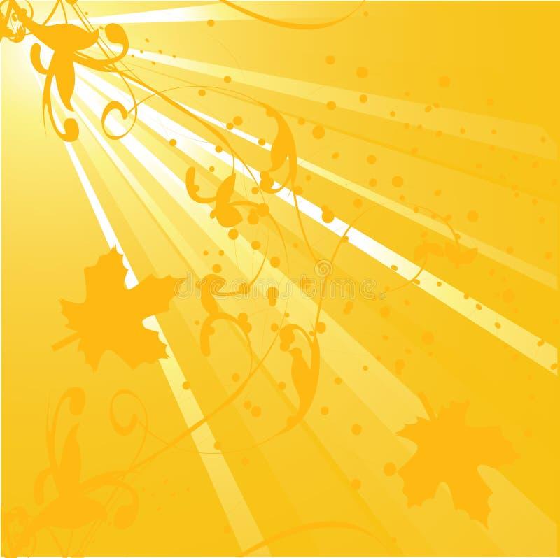 Outono dourado ilustração royalty free