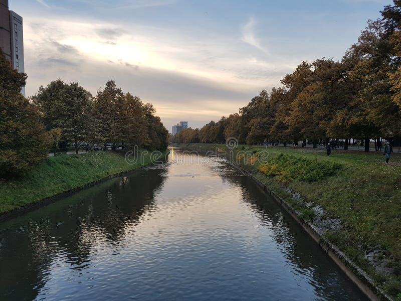 outono em Sarajevo, Bosnia&Herzegovina fotos de stock royalty free