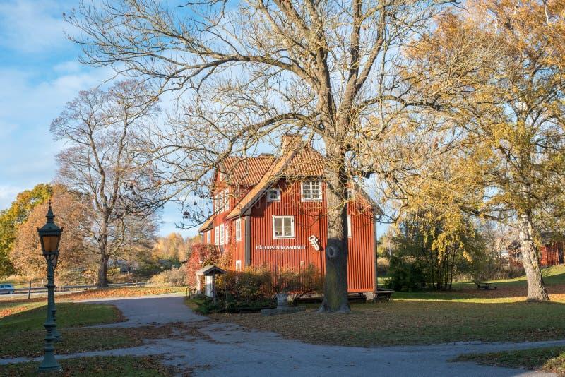 Outono em sweden foto de stock