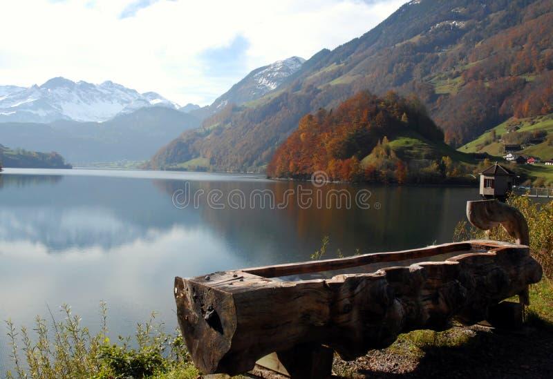 Outono em Switzerland foto de stock royalty free