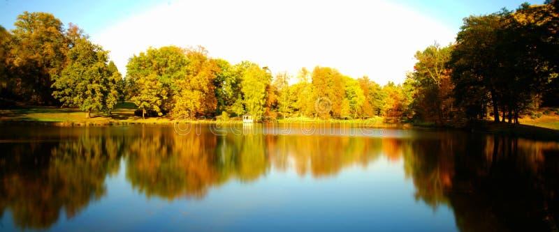 Outono em um parque fotos de stock