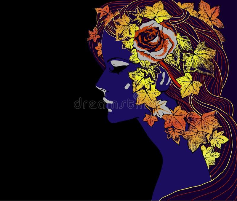 Outono girl2 ilustração royalty free