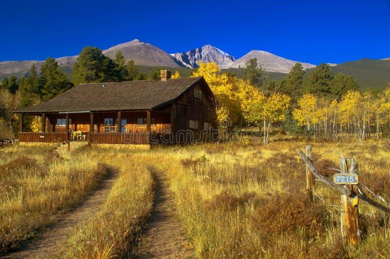 Outono na cabine imagem de stock royalty free