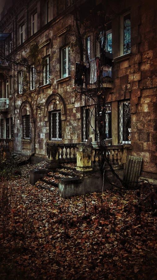 Outono na cidade fotografia de stock